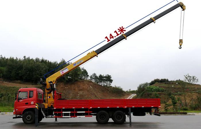 徐工M系列12吨双联泵加长臂吊机吊臂长度